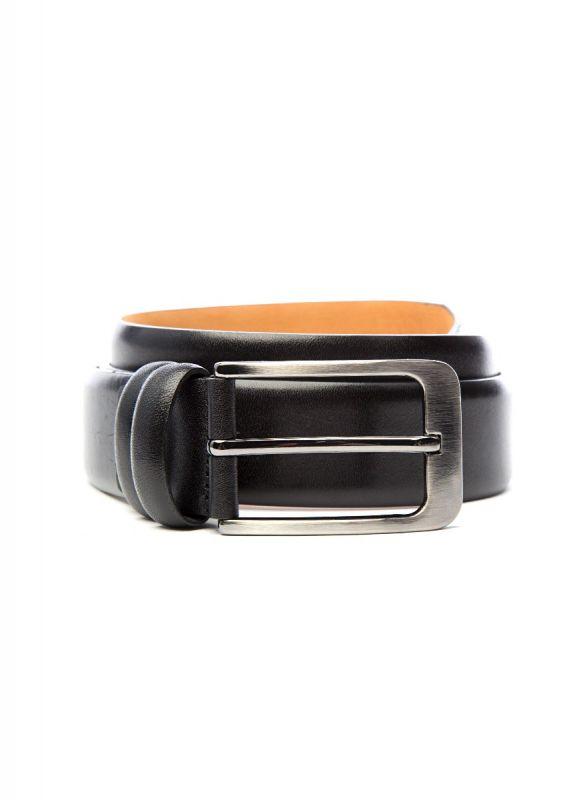 Jet Black Leather Belt