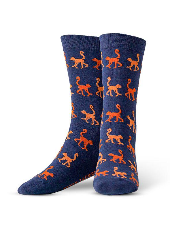 Blue & Orange Monkey Sock