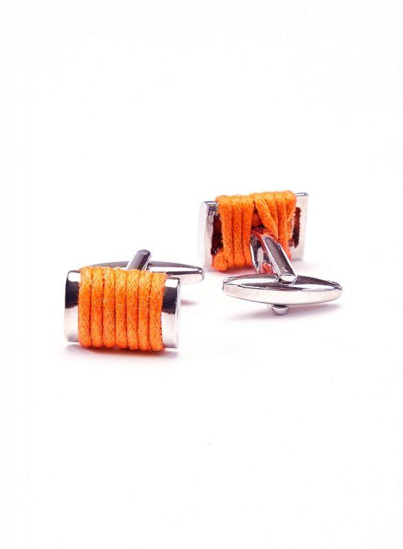 Orange Roped Cufflink
