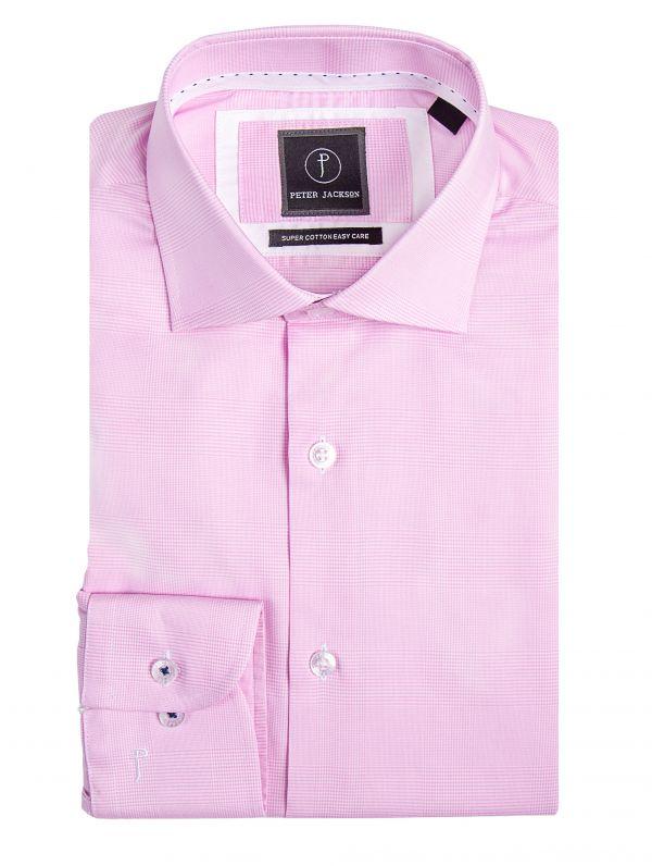 Milan Pink Classic Check Shirt