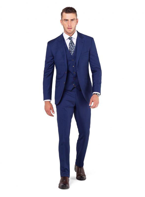 Madrid Jet Blue Suit Jacket