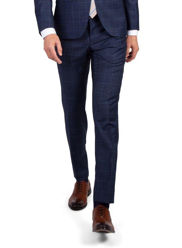 Dexter Indigo Overcheck Trousers
