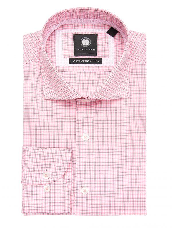Pink Mini-Check Shirt