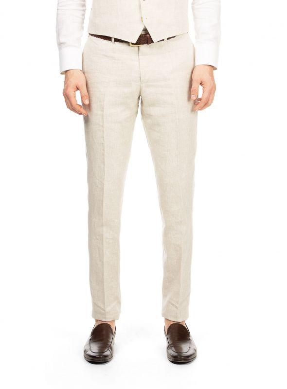 Venezia Sand Linen Trousers