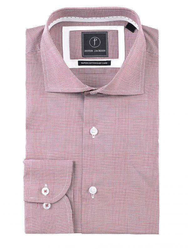 Burgundy Glen Check Shirt