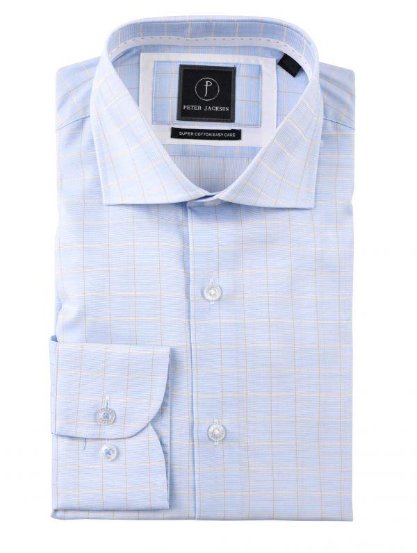 Blue Yellow-Checked Shirt