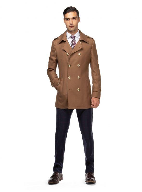 Hunter Camel Pea Coat