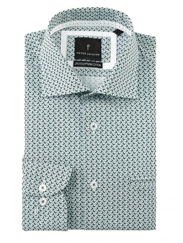 Green Micro-Dot Shirt
