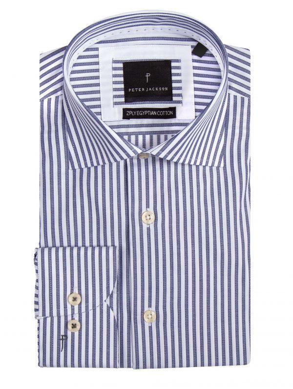 Milan Blue Stripe Shirt