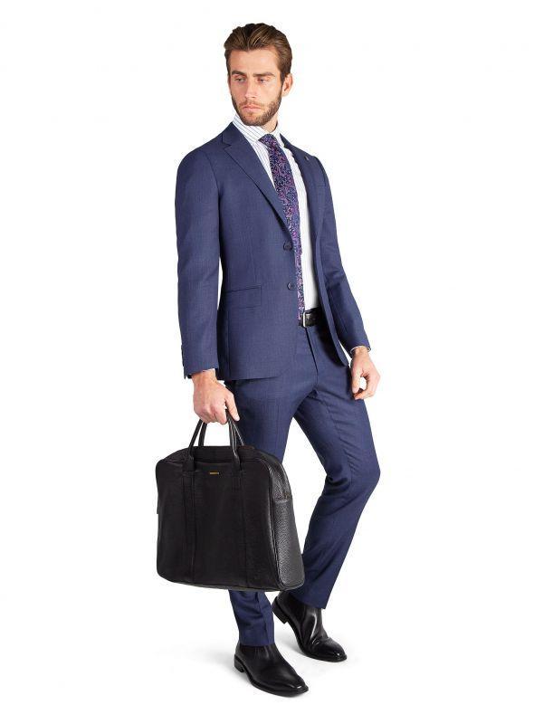 Carlo Blue Birdseye Suit