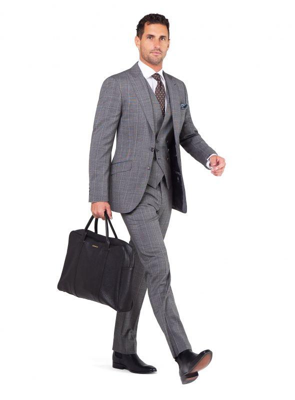 Matteo Grey Sharkskin Check Suit