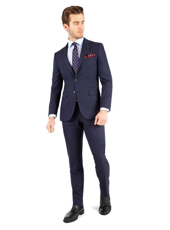 Matteo Navy Micro Stripe Suit