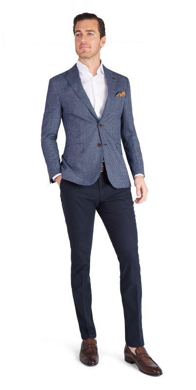 Verona Blue Houndstooth Jacket