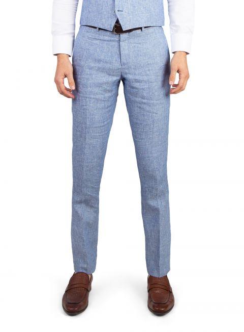 Venezia Sky Linen Trousers