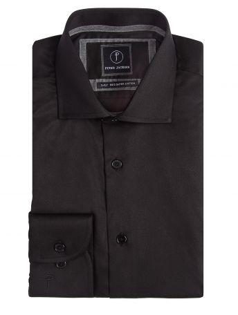 Milan Black Twill Shirt