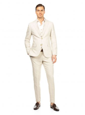 Verona Sand Linen Jacket