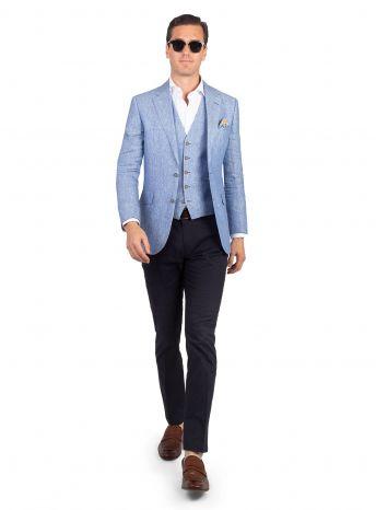Verona Sky Linen Jacket