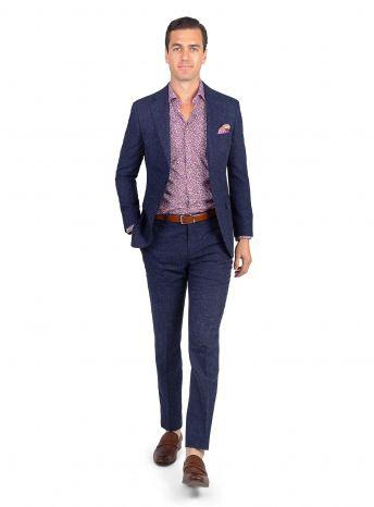Verona Royal Blue Basketweave Jacket