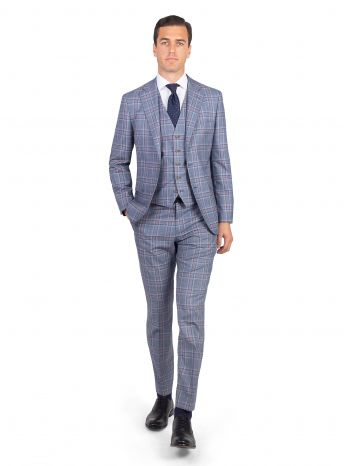 Marzotto Blue & Pink Check