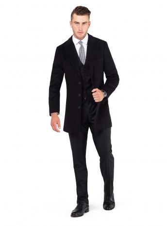 Bellagio Black Overcoat