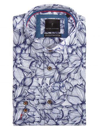 Jungle Leaf Print Shirt