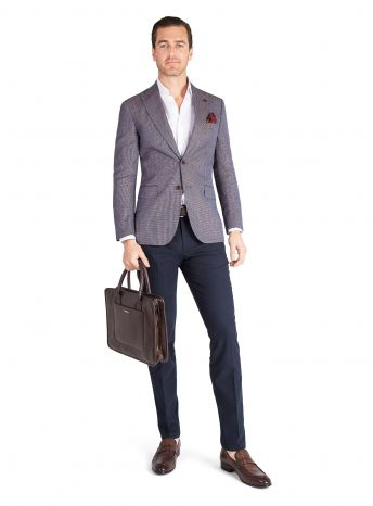 Palermo Blue and Copper Basketweave Jacket