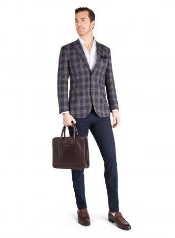 Verona Indigo Check Jacket