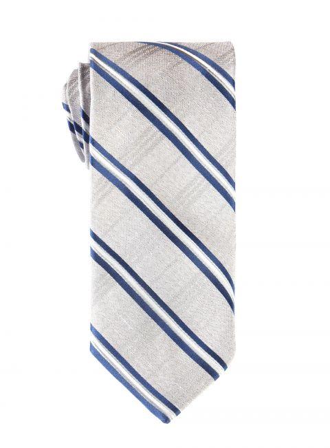 Silver & Blue Stripe Tie