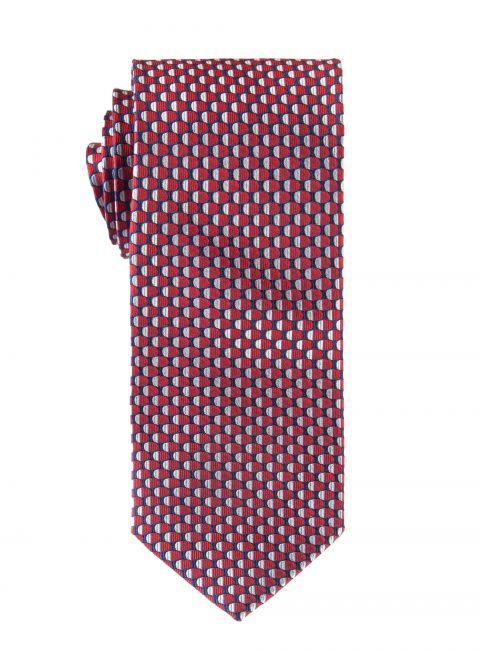 Retro Red and Silver Tie