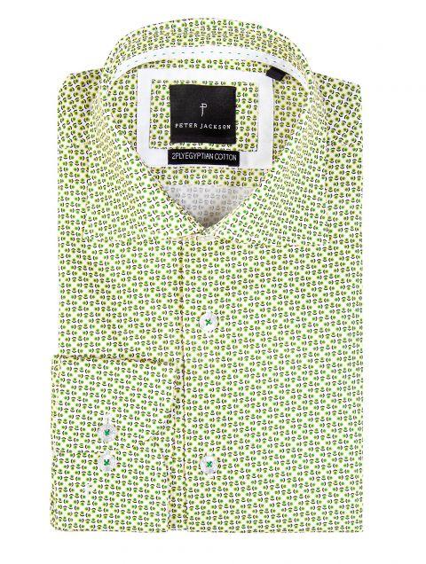 Rimini Yellow Green Print Shirt