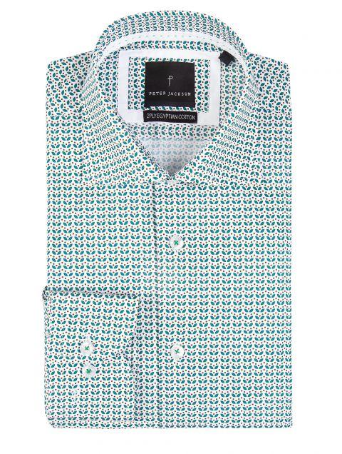 Retro-Geo Teal Print Shirt