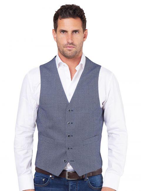 Tiber Blue Birdseye Vest