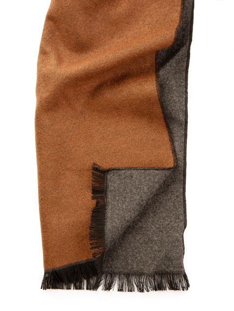Taupe Charcoal Ombré Scarf