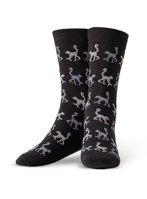 Black & Grey Monkey Sock