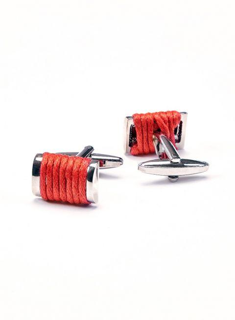 Scarlet Roped Cufflink