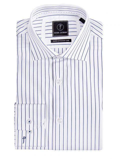 Navy Pinstripe Business Shirt