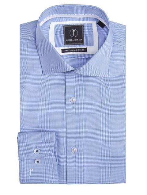Milan Blue Classic Check Shirt