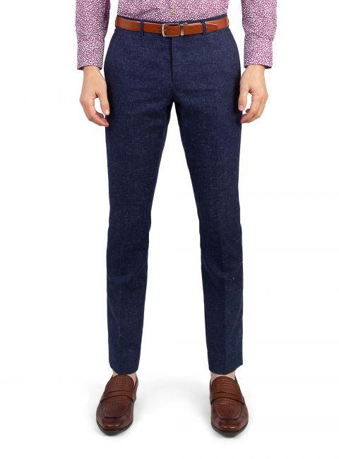 Venezia Royal Blue Basketweave Trouser