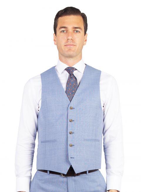 Cayman Light Blue Stepped Weave Vest