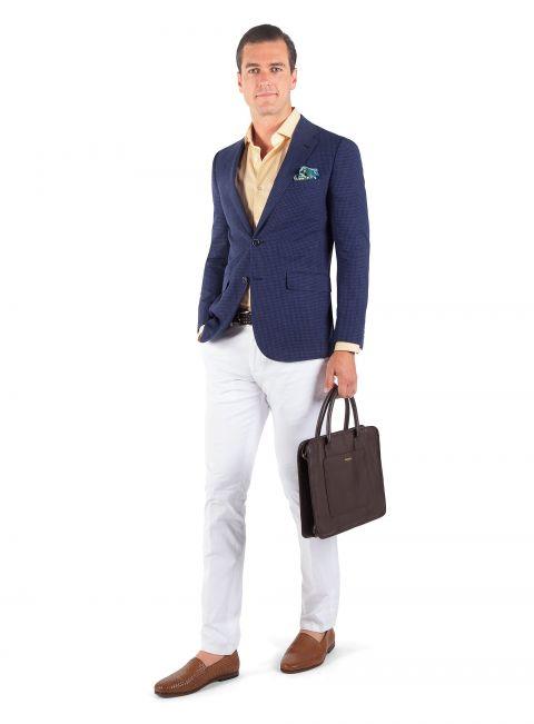 Verona Blue Micro Check Jacket