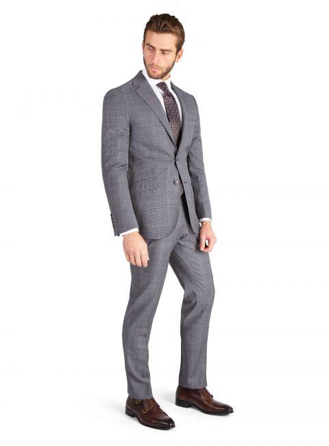 Salvatori Grey Glen Check Suit