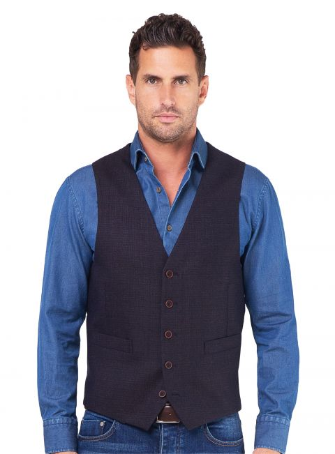 Tiber Blue/Copper Textured Vest