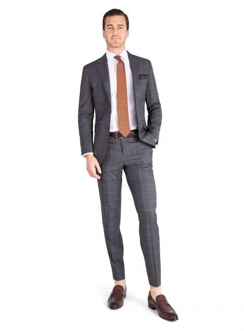 Paolo Grey Plaid Suit