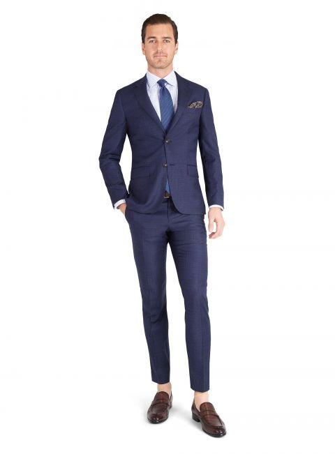 Giovanni Indigo Check Suit