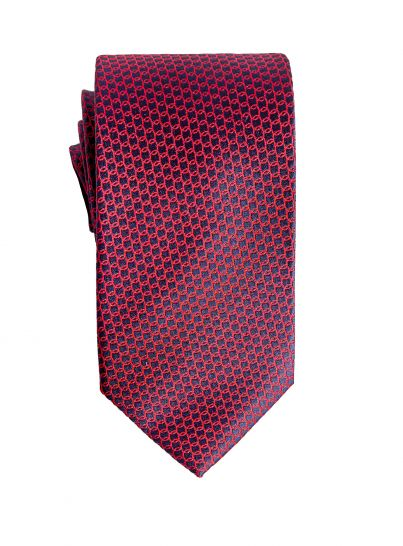 Red and Navy Chainlink Tie