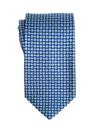 Geometric Diamond Aqua Tie