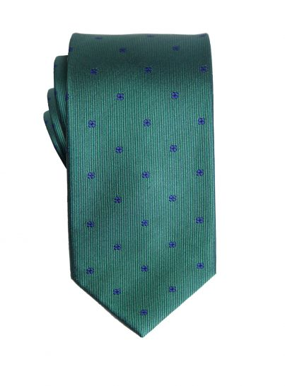 Green with Navy Floral Tie
