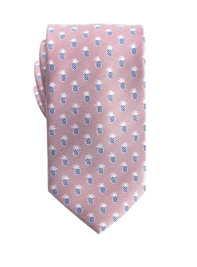 Dusky Pink with Pinapple Tie
