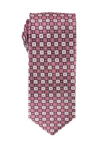 Pink Retro Geometric Tie