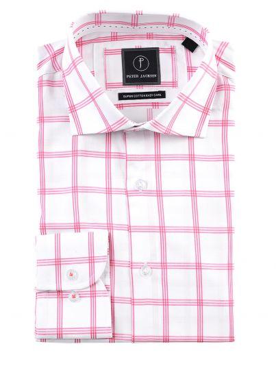 Pink Overcheck Shirt